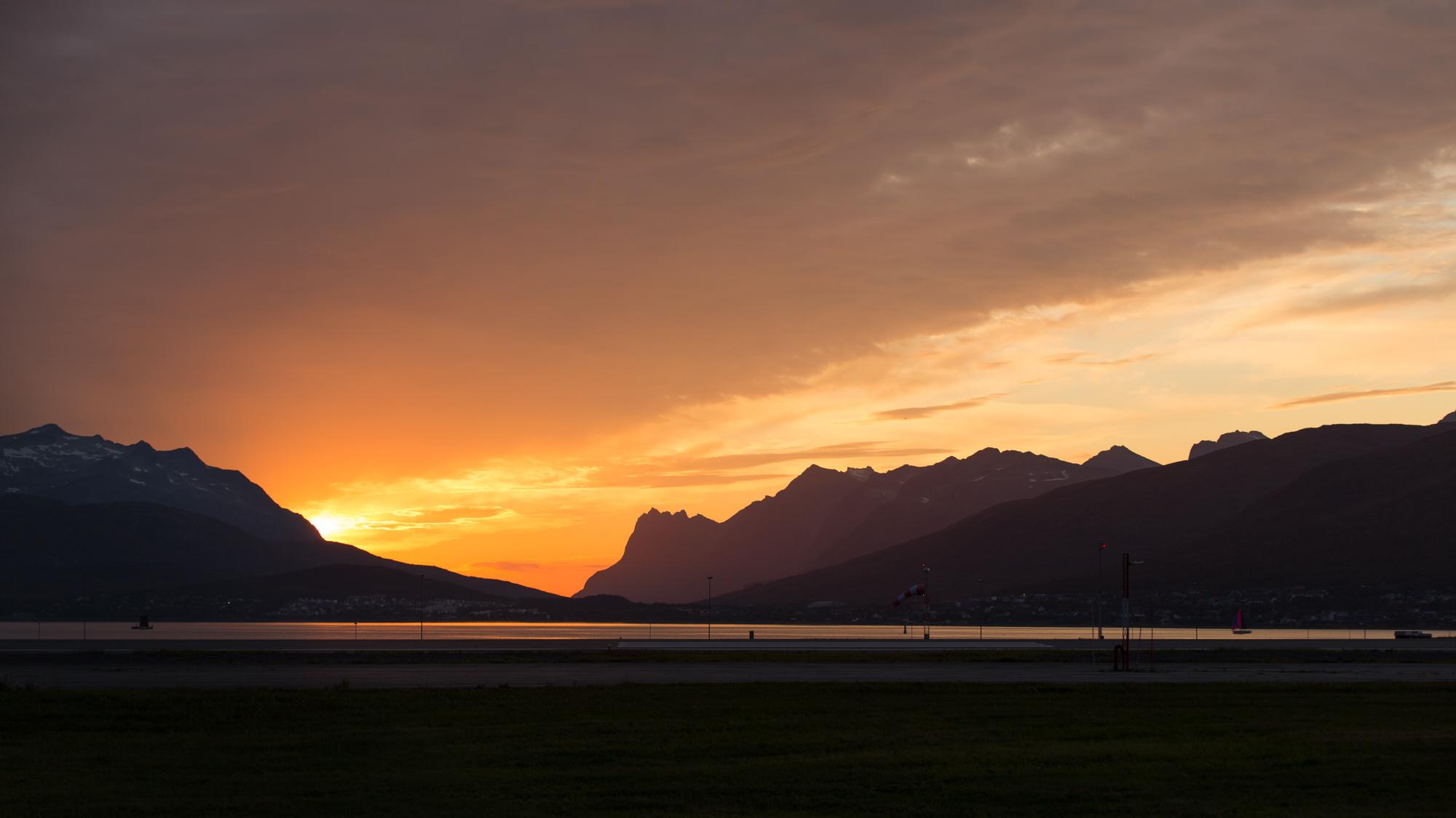 Sonnenuntergang in Tromsø