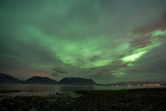 Aurora über dem Ramsfjord
