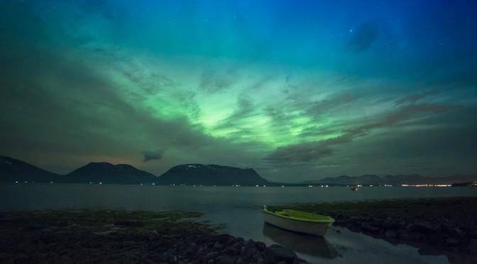 Nordlicht über dem Ramsfjord